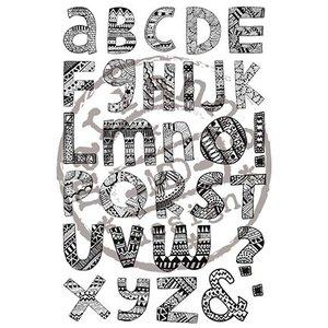Stempel / Stamp: Transparent Rubber zegel, krabbel, brief