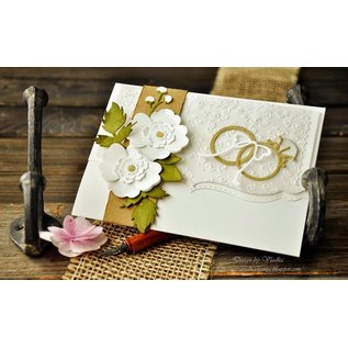 Cottage Cutz Cutting en embossing stencils, trouwringen