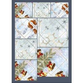 KARTEN und Zubehör / Cards Tolle Idee! Mini-Umschläge mit Eichhörnchen, Zweige, Glocken, Sterne Motive