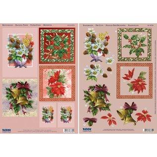 """Bilder, 3D Bilder und ausgestanzte Teile usw... 3D Stanzbogenset """"Floral Christmas motifs bell"""""""