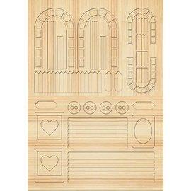 Embellishments / Verzierungen Die cut ark Gartenzaeune, trellises, lys brun