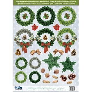 Embellishments / Verzierungen Great idea! Die cut sheets with accessories made of 250g card stock, A4