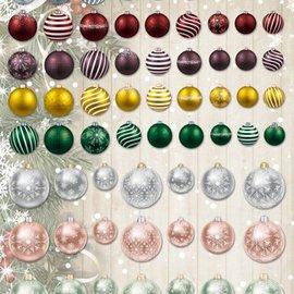 Embellishments / Verzierungen Gran idea! láminas troqueladas con bolas de navidad de la tarjeta 250g de valores, A4