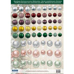 Embellishments / Verzierungen Great idea! Die cut sheets with Christmas balls of 250g card stock, A4