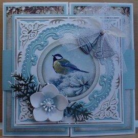 Marianne Design Plantillas de corte y relieve, marco de 2 y 1 candelabro