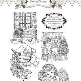 AMY DESIGN AMY DESIGN, timbres transparents, Amy Design, motifs de Noël et ange