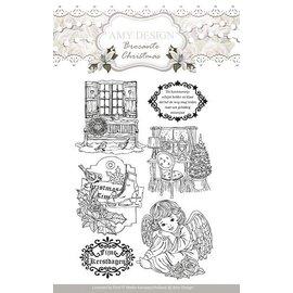 AMY DESIGN AMY DESIGN, Transparante stempels, Amy Ontwerp, Kerstmis motieven en engel