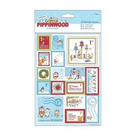 STICKER / AUTOCOLLANT A5 set with 32 stamps linen structure