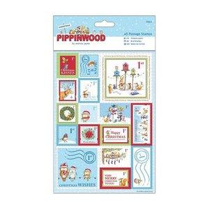 Sticker A5 Set of 32 stamps linen texture
