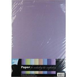 Karten und Scrapbooking Papier, Papier blöcke Pearl A4 paper, 8 sheets