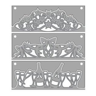 Tonic Studio´s Ponsen en embossing stencil, set van 3 !!