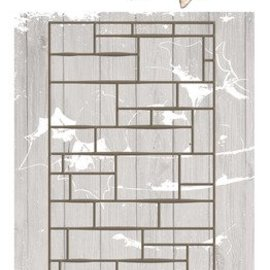 Precious Marieke Stamping template, wall, size approx 7.4 x 14.7 cm