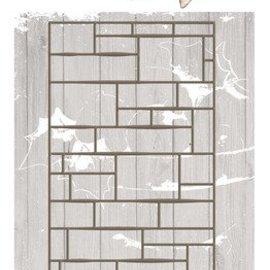 Precious Marieke Stempelen sjabloon, muur, afmeting ca. 7,4 x 14,7 cm