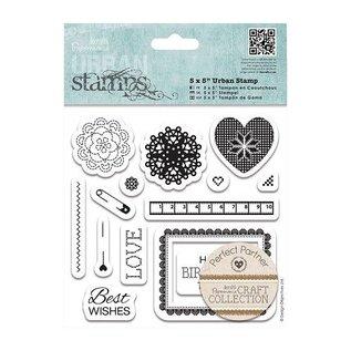 Docrafts / Papermania / Urban Timbro di gomma, francobolli urbana, raccolta