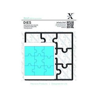 Docrafts / X-Cut Stempelen sjabloon, puzzelstukjes