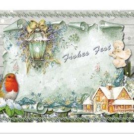 BASTELSETS / CRAFT KITS Billetera Craft para el diseño de 8 tarjetas de Navidad