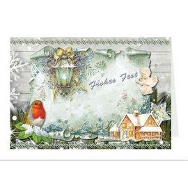 BASTELSETS / CRAFT KITS Craft portafoglio per la progettazione di 8 cartoline di Natale