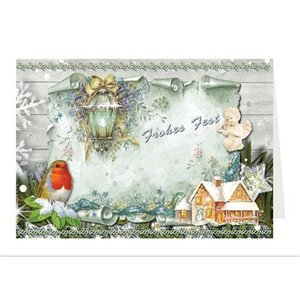 BASTELSETS / CRAFT KITS Ambachtelijke portemonnee voor het ontwerpen van 8 kerstkaarten