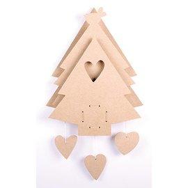 Objekten zum Dekorieren / objects for decorating MDF Set: Weihnachtsbaum mit Musikdose
