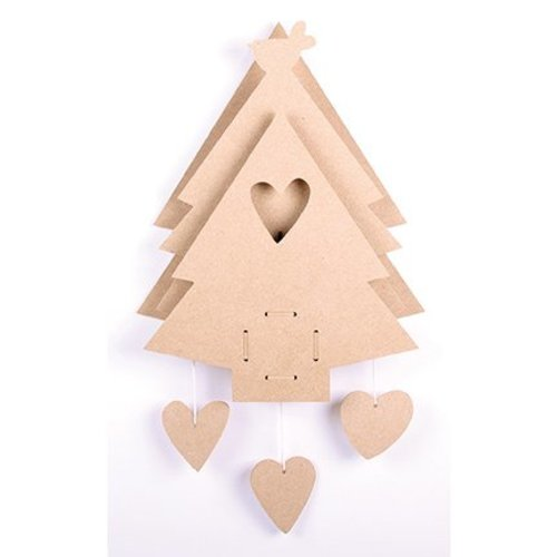 Objekten zum Dekorieren / objects for decorating MDF Kerstboom met muziek doos