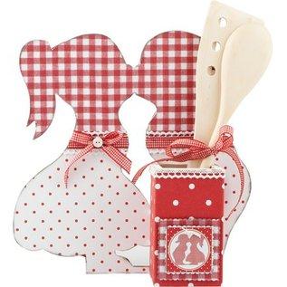 Objekten zum Dekorieren / objects for decorating MDF Set: Stand, Kissing Boy & Girl
