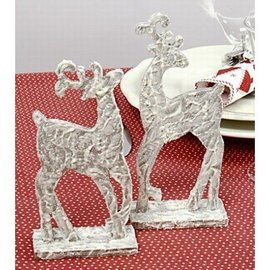 Objekten zum Dekorieren / objects for decorating 2 stående rensdyr fra træ