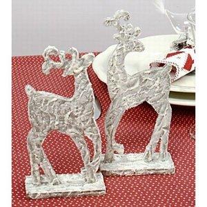 Objekten zum Dekorieren / objects for decorating 2 standing reindeer from wood