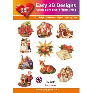 Bilder, 3D Bilder und ausgestanzte Teile usw... 3D ponsen ontwerpen, ambachtelijke set: 1 set = 10 verschillende 3D motieven!