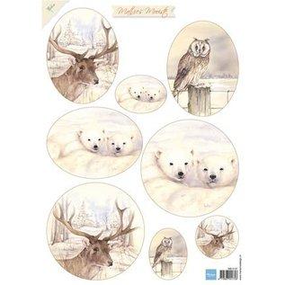 Bilder, 3D Bilder und ausgestanzte Teile usw... Ausschneidebogen, Marianne Design, Mattie's Mooiste - Deer