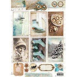 Bilder, 3D Bilder und ausgestanzte Teile usw... Stanzbogen, Winter Memories