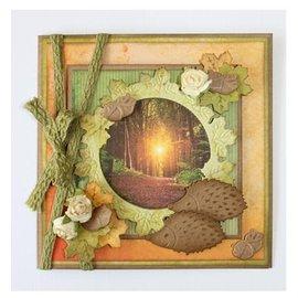 Marianne Design Troquelado y estampado de plantilla: Hoja del otoño - único disponible! Muy popular, a por ellos!