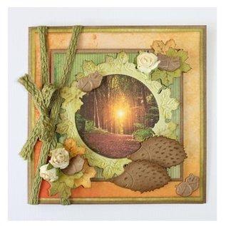 Marianne Design Ponsen en embossing sjabloon: Herfst blad - slechts één beschikbaar! Erg populair, get 'em!