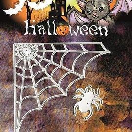 Yvonne Creations Estampado y Repujado plantilla, Yvonne Creaciones, Web de araña de Halloween