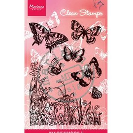 """Marianne Design Transparent stamp, """"butterflies and flowers"""""""