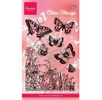 "Marianne Design Transparant stempel, ""vlinders en bloemen"""