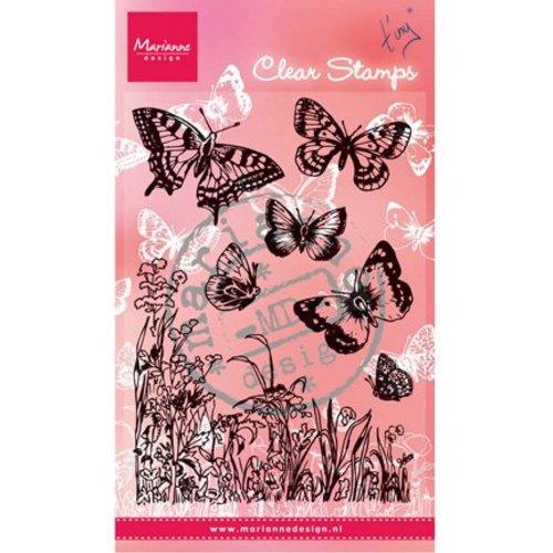 Marianne Design timbre transparent, « papillons et fleurs »