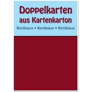 KARTEN und Zubehör / Cards 10 Doppelkarten A6, bordeauxrot, 250 g / qm