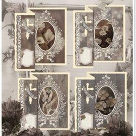 BASTELSETS / CRAFT KITS Condoléances pliantes pour 4 cartes + enveloppes