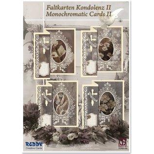 BASTELSETS / CRAFT KITS Faltkarten Kondolenz für 4 Karten + Umschläge