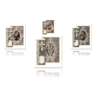 BASTELSETS / CRAFT KITS Folding Condolences for 4 cards + envelopes