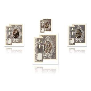 BASTELSETS / CRAFT KITS Folding Deelneming voor 4 kaarten + enveloppen