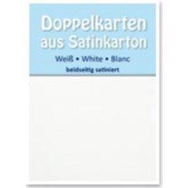 KARTEN und Zubehör / Cards 5 satén tarjetas dobles A6, ambas partes satén