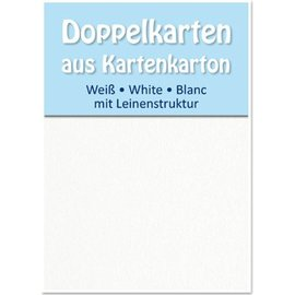 KARTEN und Zubehör / Cards 5 Satin double cards A6, both sides satin with linen texture
