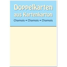 KARTEN und Zubehör / Cards 10 Satin-Doppelkarten A6, Chamois