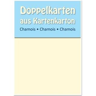 KARTEN und Zubehör / Cards 10 doubles cartes satin A6, Chamois