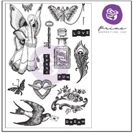 Prima Marketing und Petaloo Rubber stamp with 14 motifs