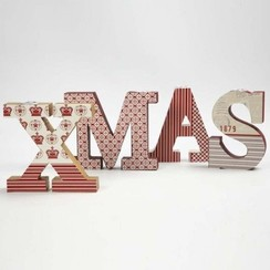 Letters, XMAS with insert for candles