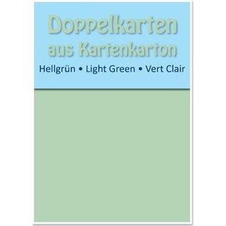 KARTEN und Zubehör / Cards 10 dubbele kaarten A6, lichtgroen, 250 g / m²