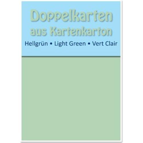 KARTEN und Zubehör / Cards 10 cartes doubles A6, vert clair, 250 g / m²