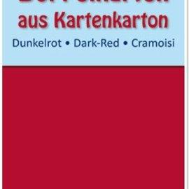 KARTEN und Zubehör / Cards 10 tarjetas dobles A6, rojo oscuro, 250 g / m²